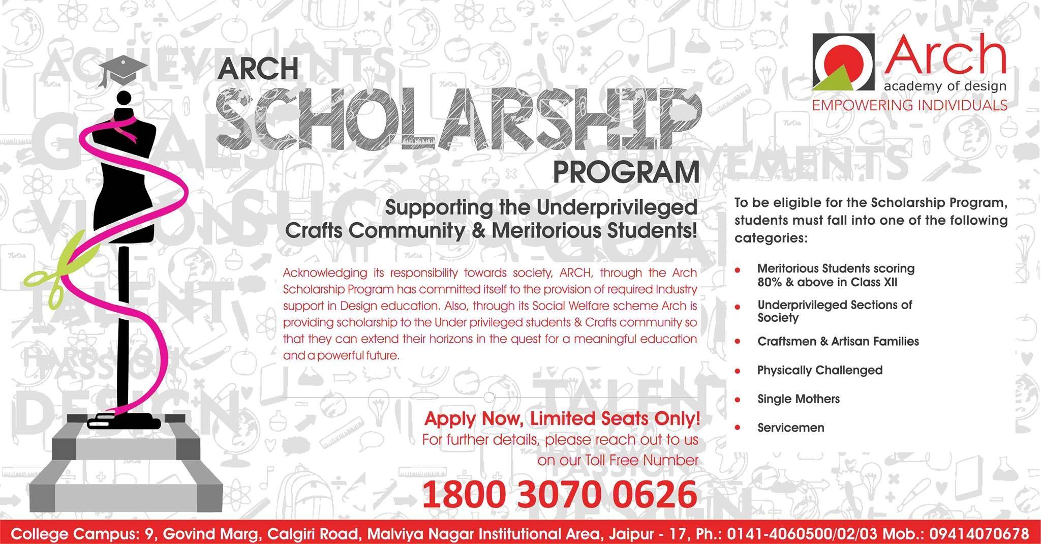 Arch Scholarship Program Http Www Archedu Org College Design Design Management Scholarships