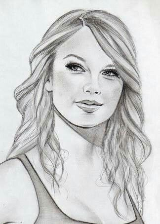 Pin By Rits13swiftie On Taylor Swift Portrait Sketches