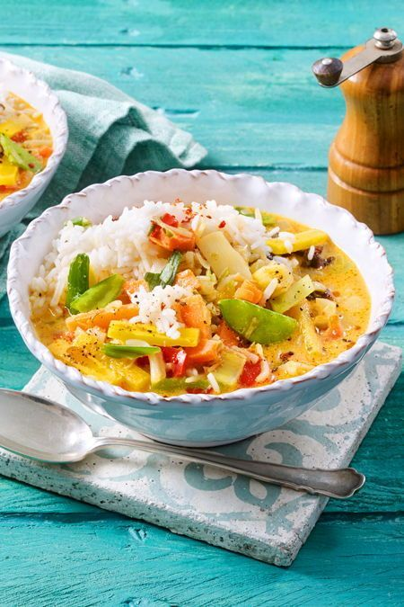 """Curry-Bowl """"Essen ist gleich fertig"""" #vegetarischerezepte"""