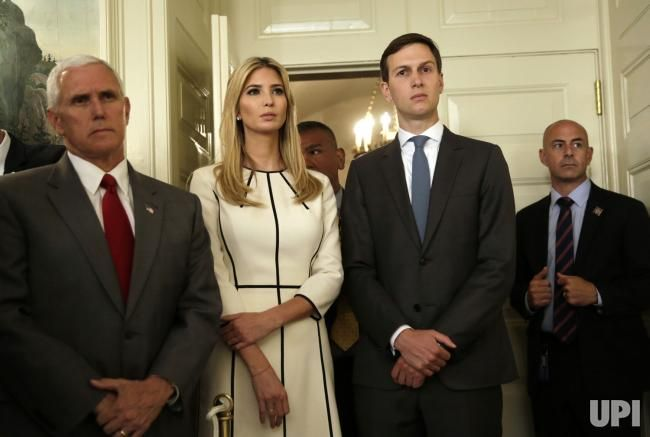 Image result for jared ivanka mike pence together  pictures