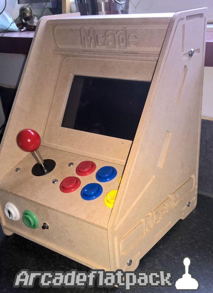 Arcade Mini Bartop Flat Pack Cabinet Kit Mame Raspberry Pi