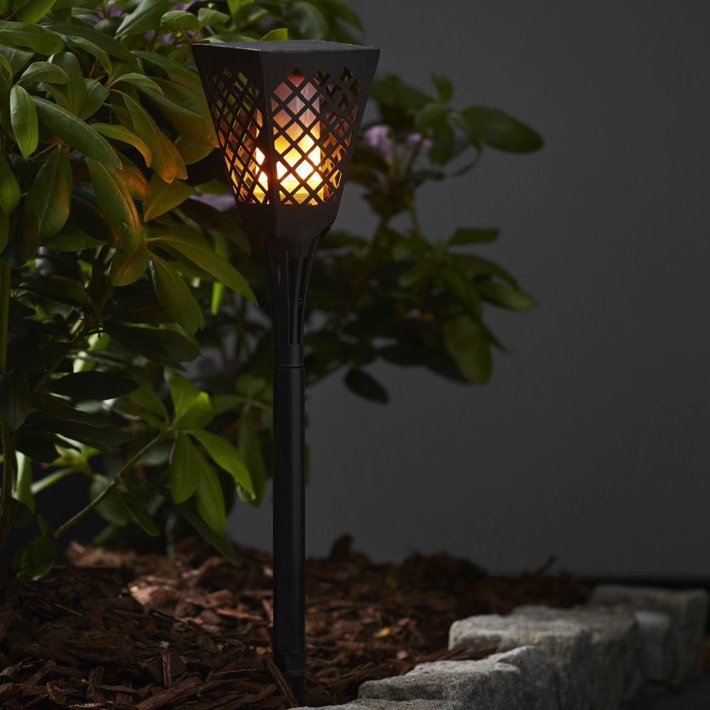 Led Solar Fackel Flame Schwarz Eckig Mit Moving Flame Funktion Best Season 480 03 Solarleuchten Viktorianische Lampen Aussenleuchten