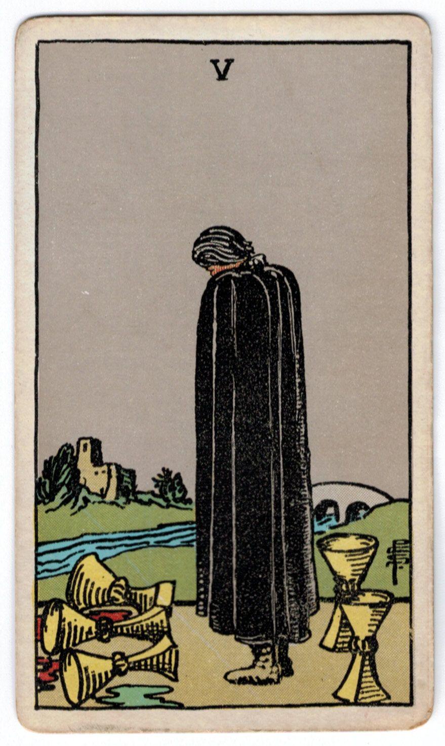 Five Of Cups, Rider-Waite Tarot