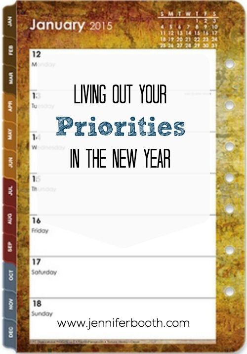 Living out your priorities does not have to be complicated. Check out these 3 easy steps for living out your priorities in the New Year.