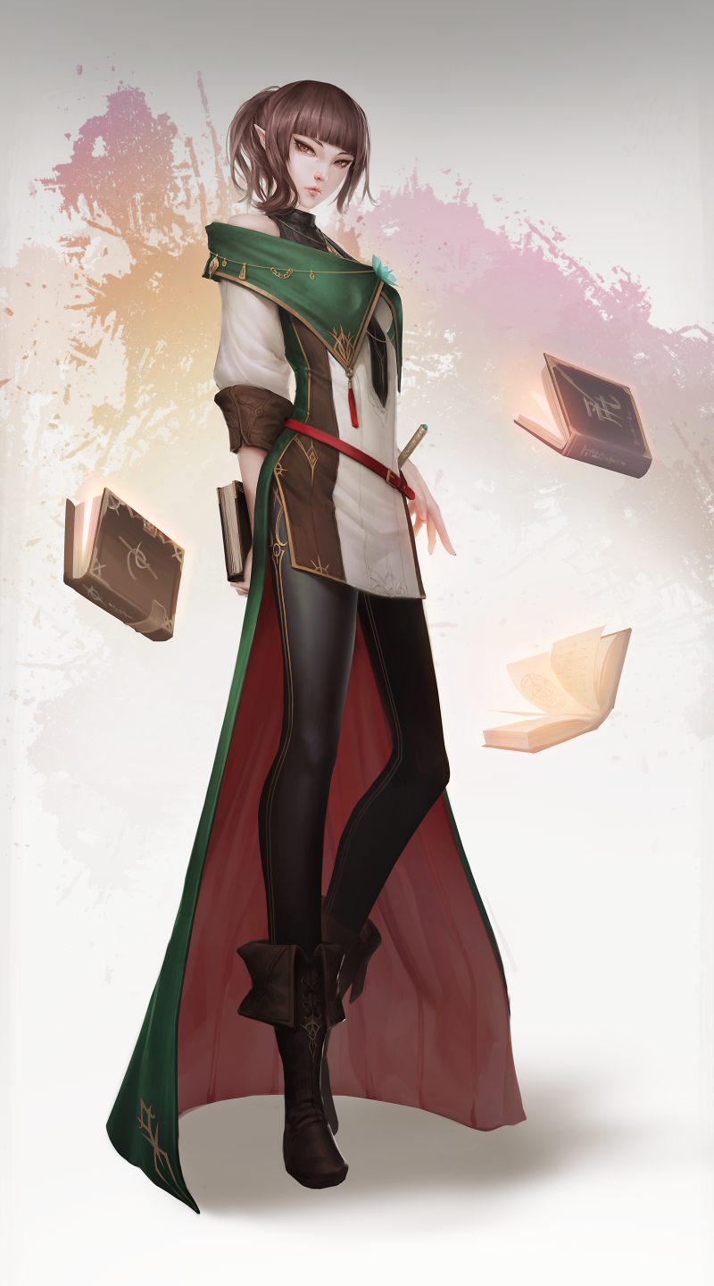 The Collector By Ae Rie Female Half Elf Wizard Magic User Sorceress