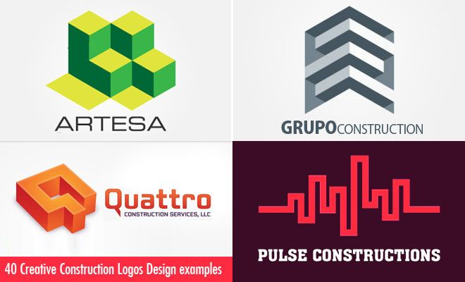 40 Creative Construction Logos Design examples for your ...