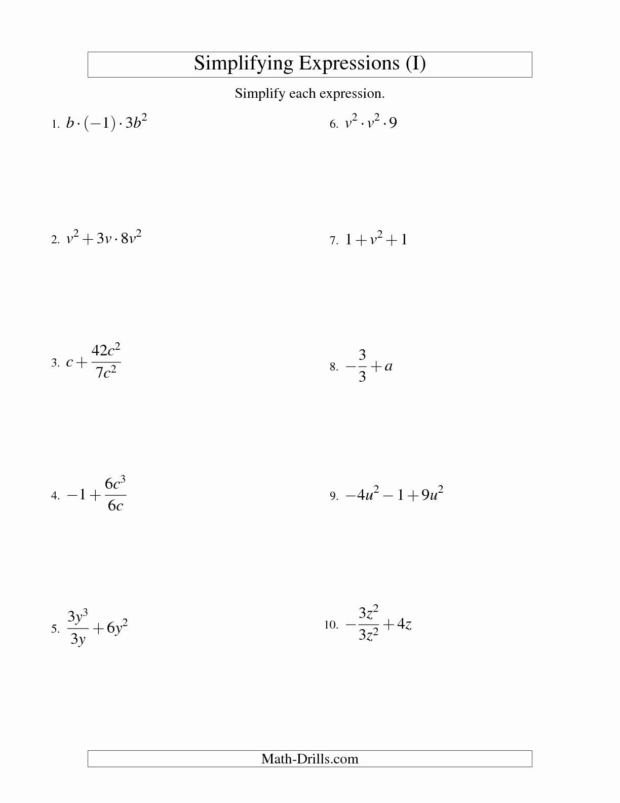Simplifying Rational Expressions Worksheet Best Of 17 Best