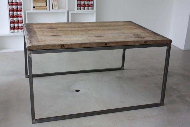 Idées Déco De Table Table Idée Et Industriel - Table bois et metal avec rallonge pour idees de deco de cuisine