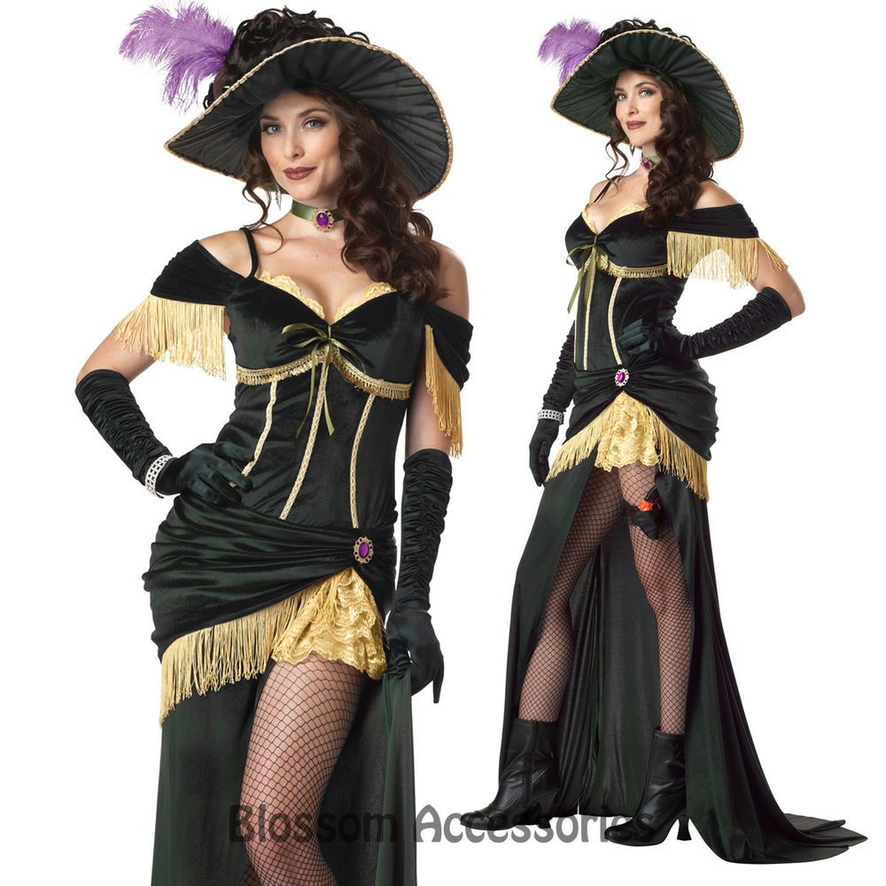 b3124382d CL6 Womens Saloon Madame Can Can Wild West Halloween Adult Costume in  Clothes, Shoes & Accessories, Fancy Dress & Period Costume, Fancy Dress |  eBay