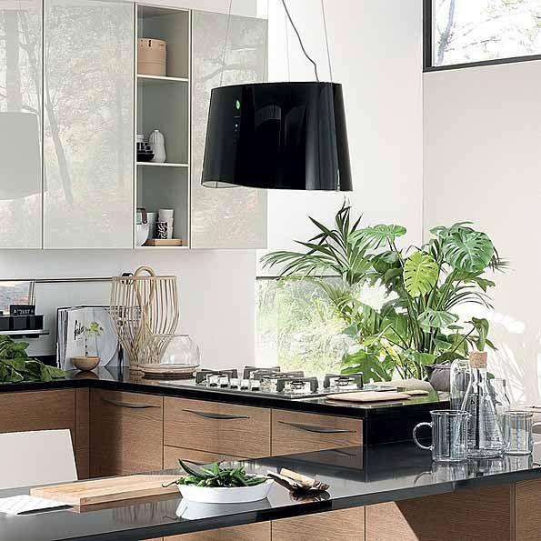 Falmec Mare Eion Inselhaube Schwarz Nordsee Küchen - dunstabzugshauben für küchen