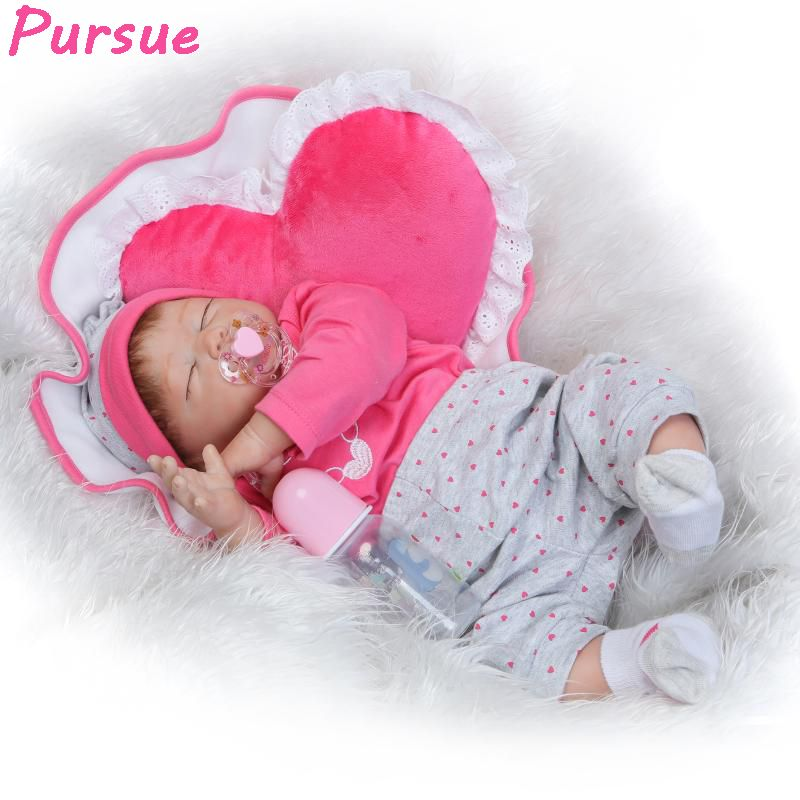 Click Image To Buy Pursue 22in 55cm 100 Handmade Real Silicone Reborn Babies Sleep Doll Girls Birthday Gift Silicone Reborn Babies Reborn Babies Baby Alive