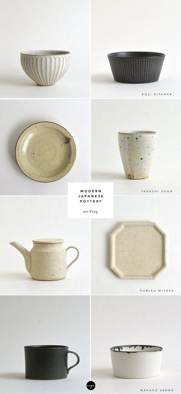 Modern Japanese Pottery On Etsy 이미지 포함 도기 세라믹