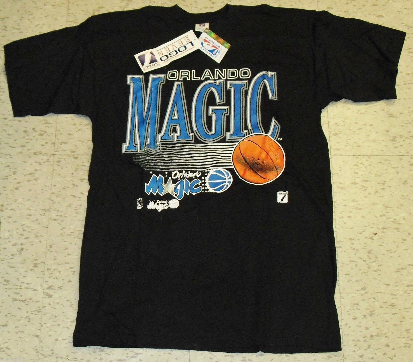 Orlando Magic Vintage 90s T Shirt New w Tags Sz Large Original Shaq Years  712cee3ca