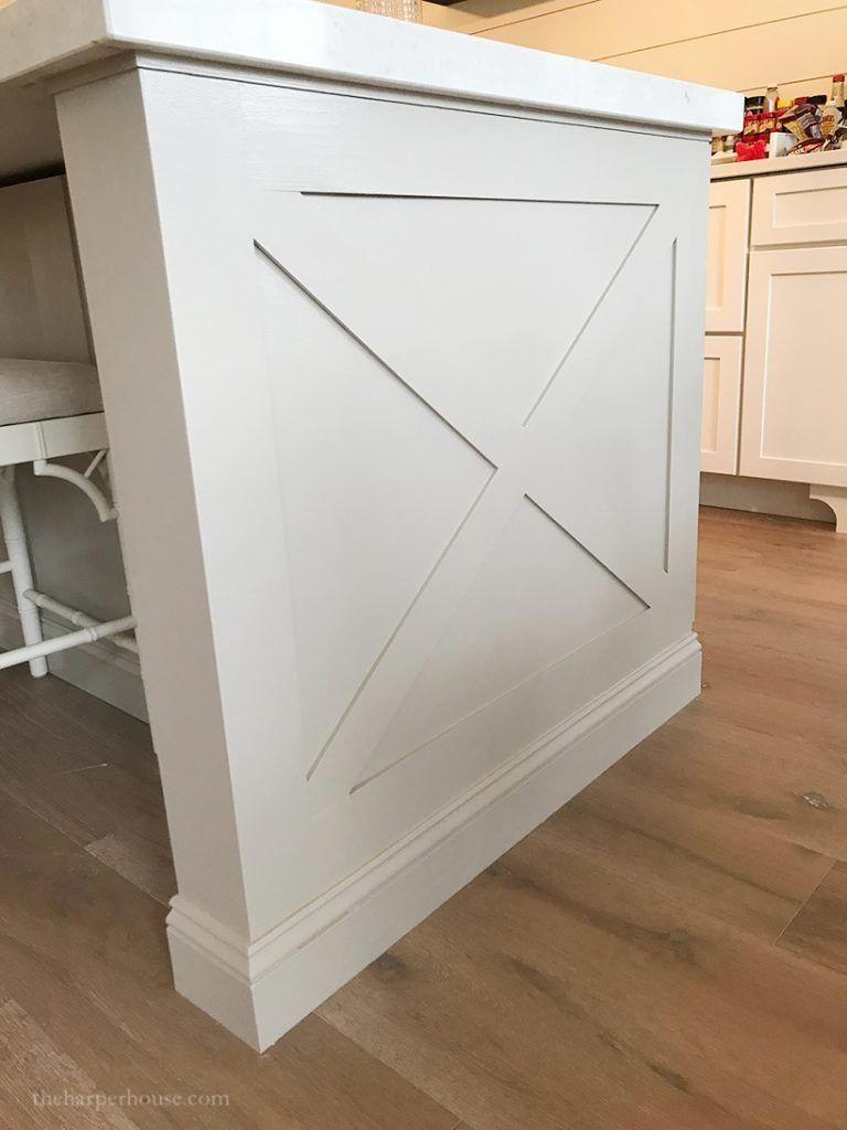 Adding Diy Kitchen Island Trim To Basic Builder Grade Cabinets Kitchen Island Ideas Modern Kitchen Island Trim Diy Kitchen Renovation Custom Kitchen Island