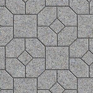 Paver Stone Mixed Blocks Stone Outdoor Floorings Textures Seamless
