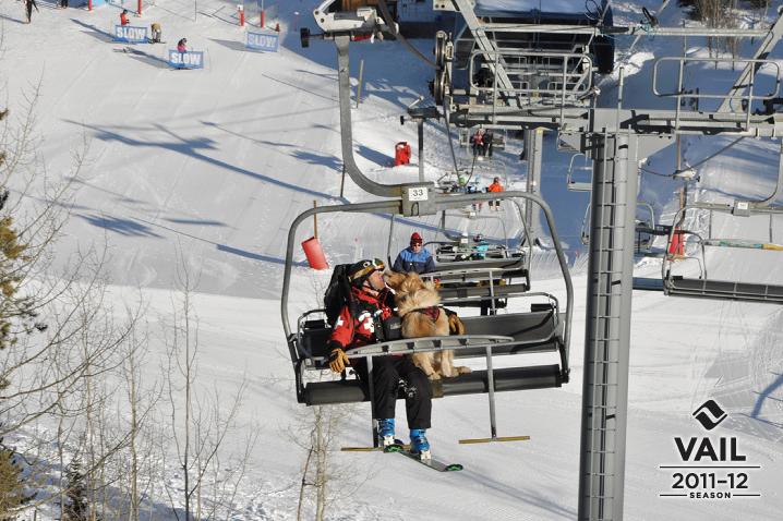 Chairlift Kisses Dog Sledding Vail Resorts Skiing
