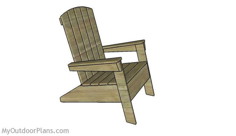 Modern Adirondack Chair Plans Outdoor Furniture Plans