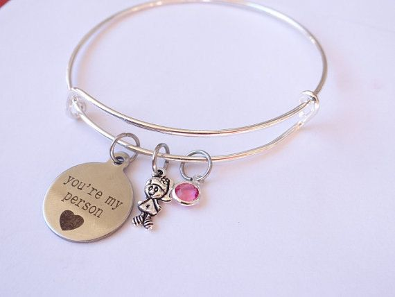 You're my Person Bracelet, you are my person, Best Friends, Stamped bracelet, You're my person gift, Friendship Gift, Birthday Gift, Sisters by creativemands1986 on Etsy