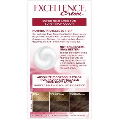 L'Oreal Paris Excellence Triple Protection Permanent Hair Color - 5AB Mocha Ash Brown - 1 Kit, 5AB Brown Grey Brown #lightashblonde