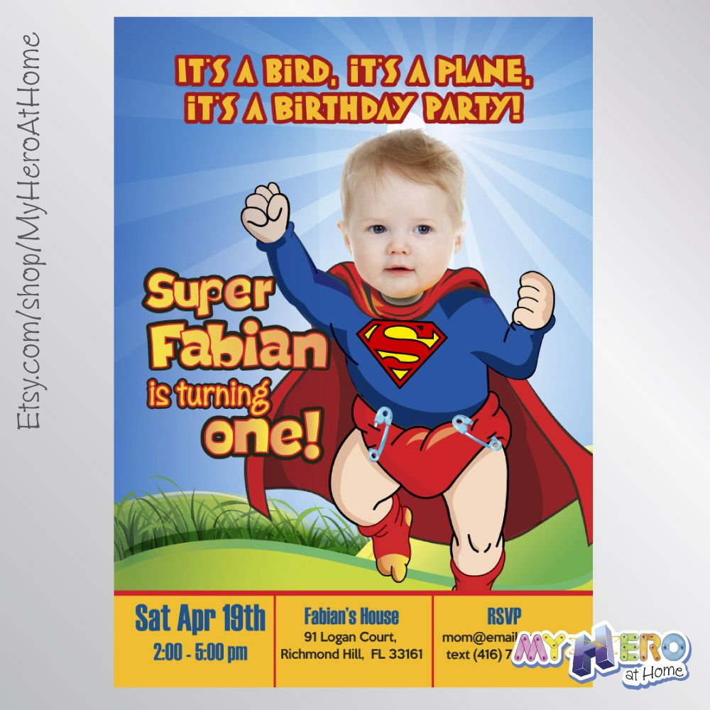 Baby Alvin Invitation With Your Little Boy As Super Baby Super Baby