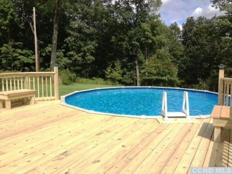 Nice above ground pool and deck outdoor decor above - Nice above ground pools ...