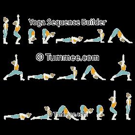 sun salutation b yoga surya namaskar b  yoga sequences