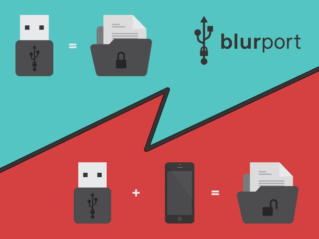 BlurPort: a new way to secure your data by BlurPort LLC — Kickstarter. The BlurPort is a government-grade encrypted USB flash drive for people who are tired of passwords and tired of not having the gadgets promised to us in spy movies. The BlurPort works with a custom app on your iOS or Android device and allows you to protect your data using credentials that are more personal than passwords, and way cooler.