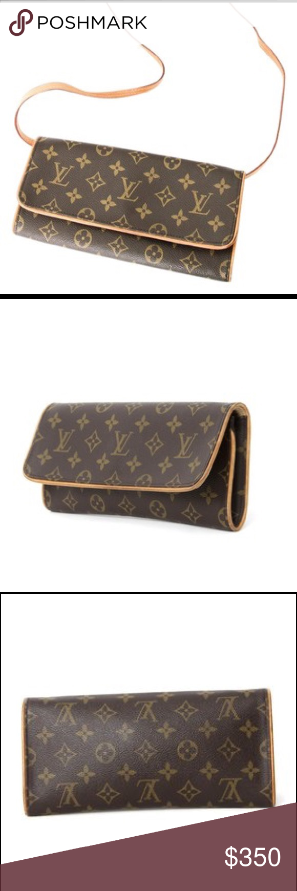 53be73e6721ba Louis Vuitton Pochette Twin Monogram Crossbody Bag 100% authentic LV  pre-owned bag in