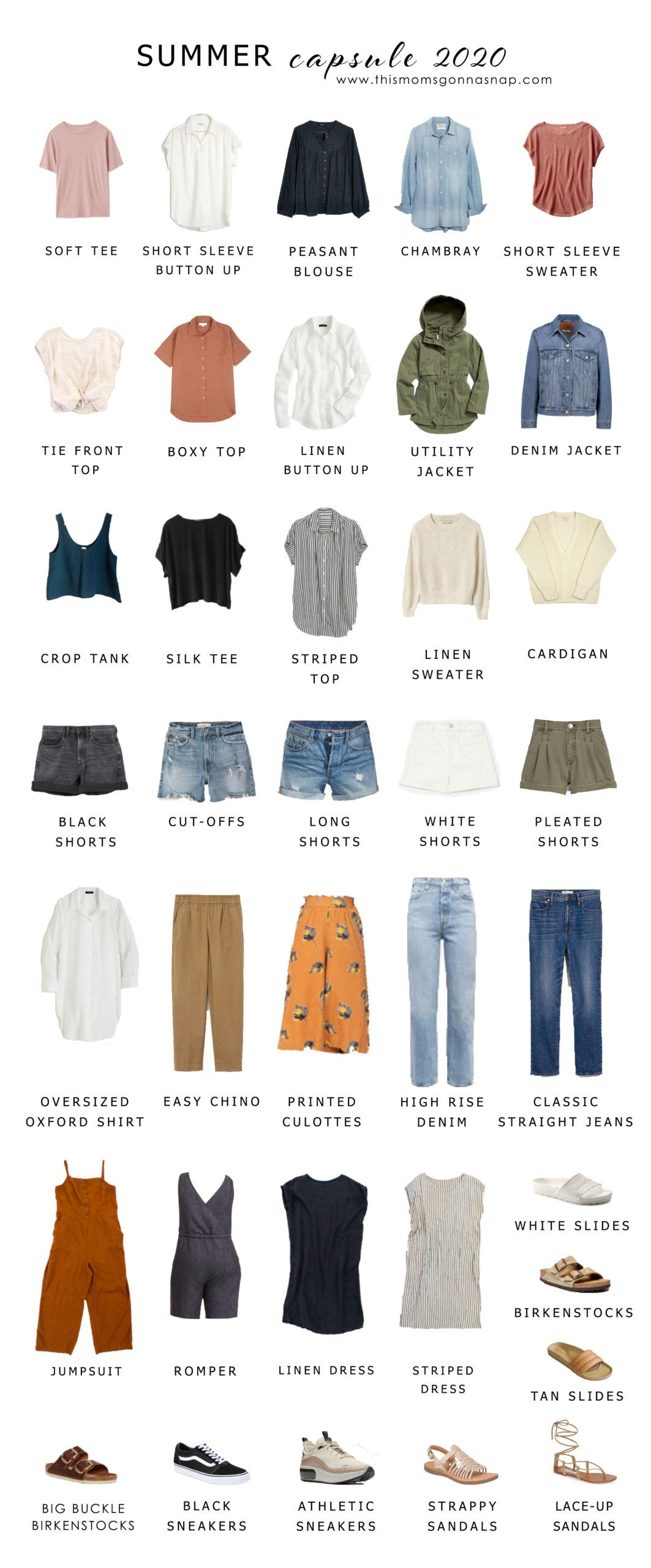 Capsule Wardrobe: Summer 2020 - THIS MOM'S GONNA SNAP