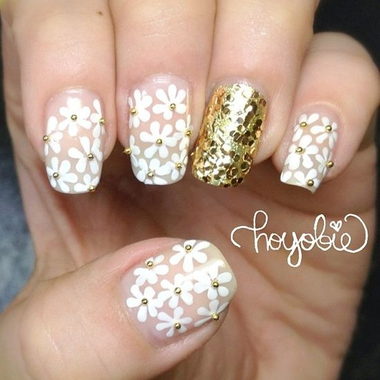 floral and glitter