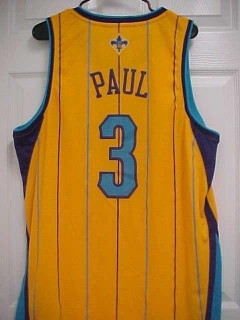 CHRIS PAUL 3 NOLA New Orleans Hornets Embroidered Basketball Jersey L +2  Adidas  adidas  NewOrleansHornets 4eb7d49a0
