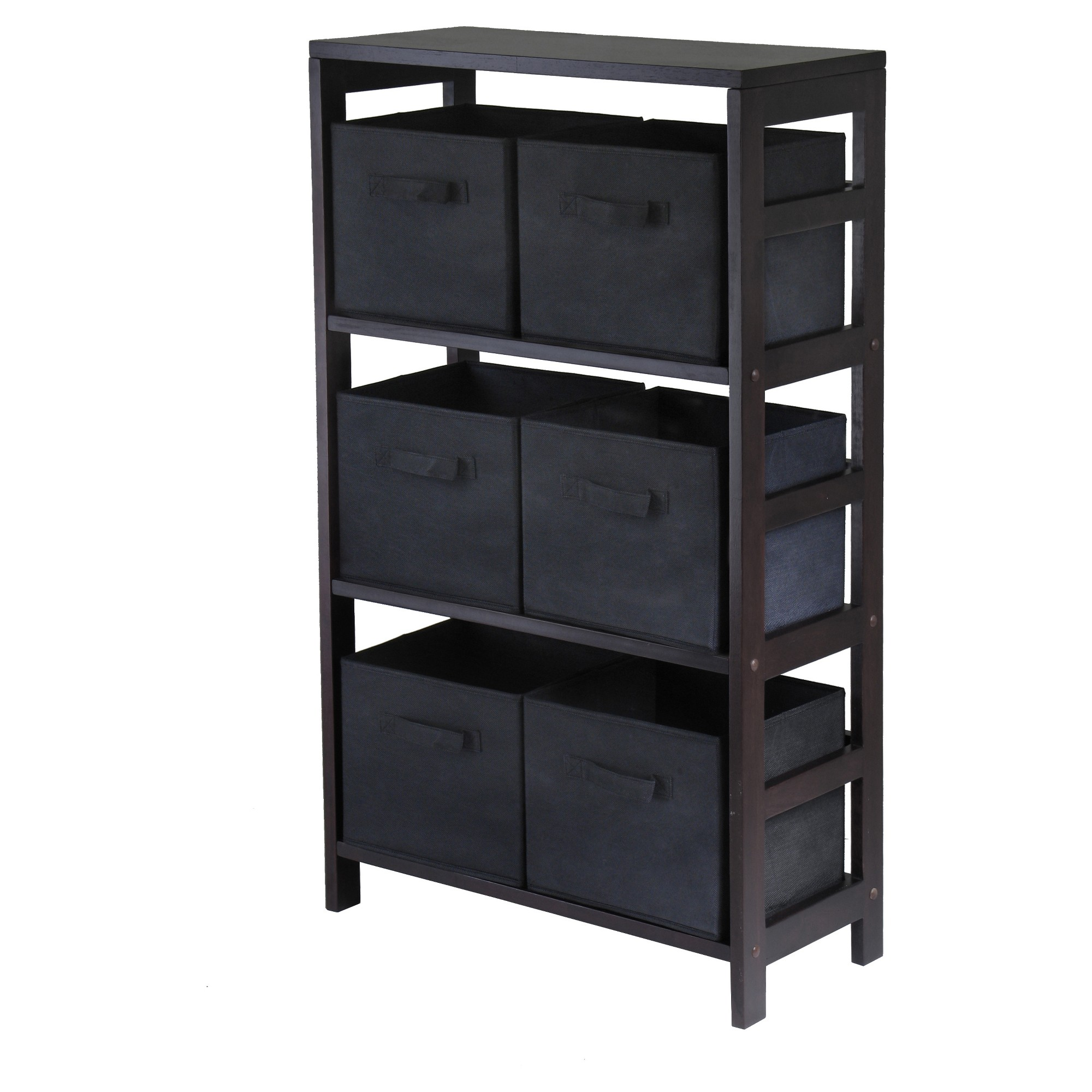 garden home today wood montego bookcase product stackable folding shelf bookshelf free shipping vida the black la barn gray natural overstock