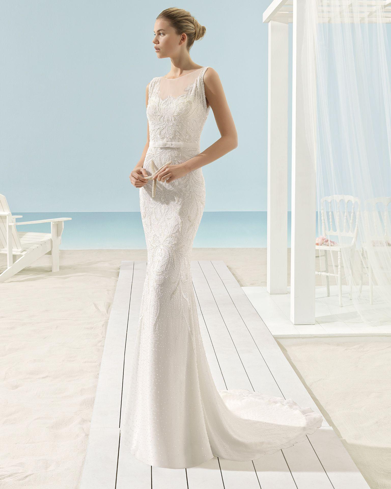 XANAT vestido de novia Aire Barcelona Beach Wedding 2017   Wedding ...