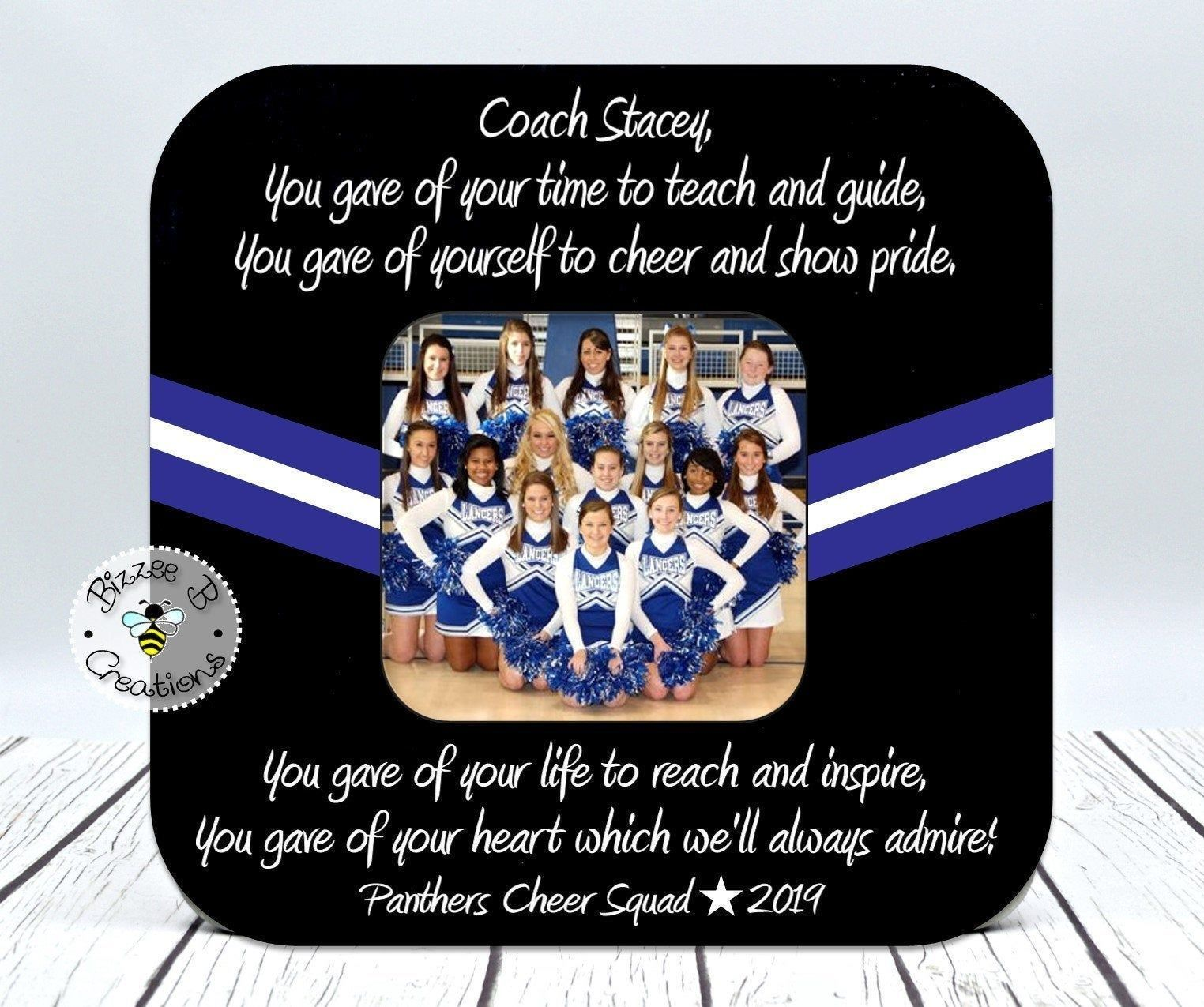 Cheer Coach Picture Frames