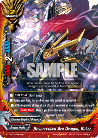 Future Card Buddyfight Demon Lord Dragon Batzz X-BT01 Dragon World Secret Set