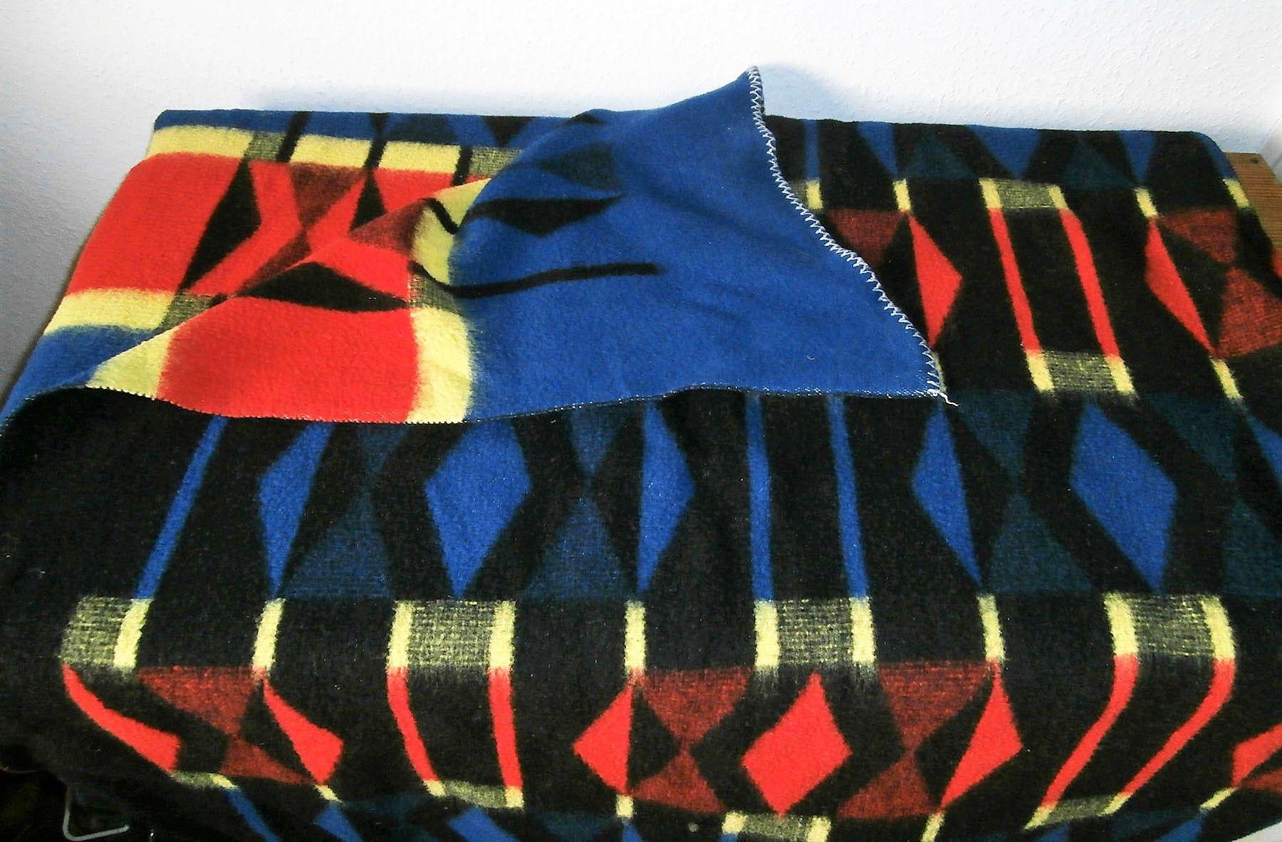 Carblanket Woolblanket Retroblankets Blanketmuseum Woolenblanket 50s 60s Campervan Oudedekens Vintageblanket Vintagedeken Retrodeken Wolldecke Decke