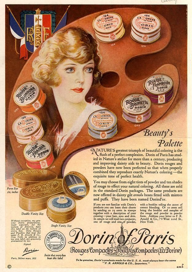 Jazz Age Thereabouts April 1922 1920s Hairstyles Vintage - 1920s-makeup-ads