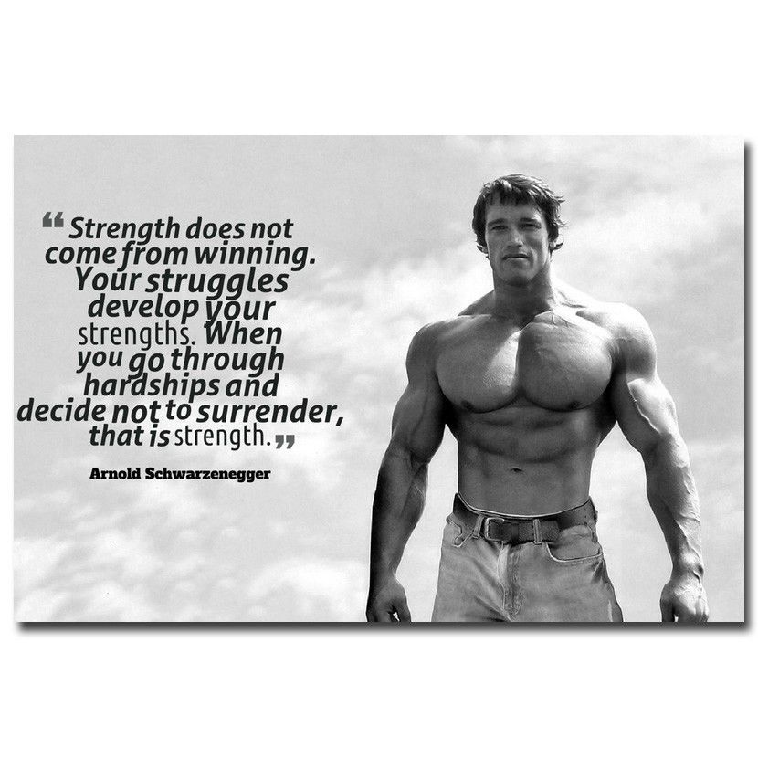 584 arnold schwarzenegger bodybuilding motivational quote silk 584 arnold schwarzenegger bodybuilding motivational quote silk poster ebay collectibles malvernweather Gallery