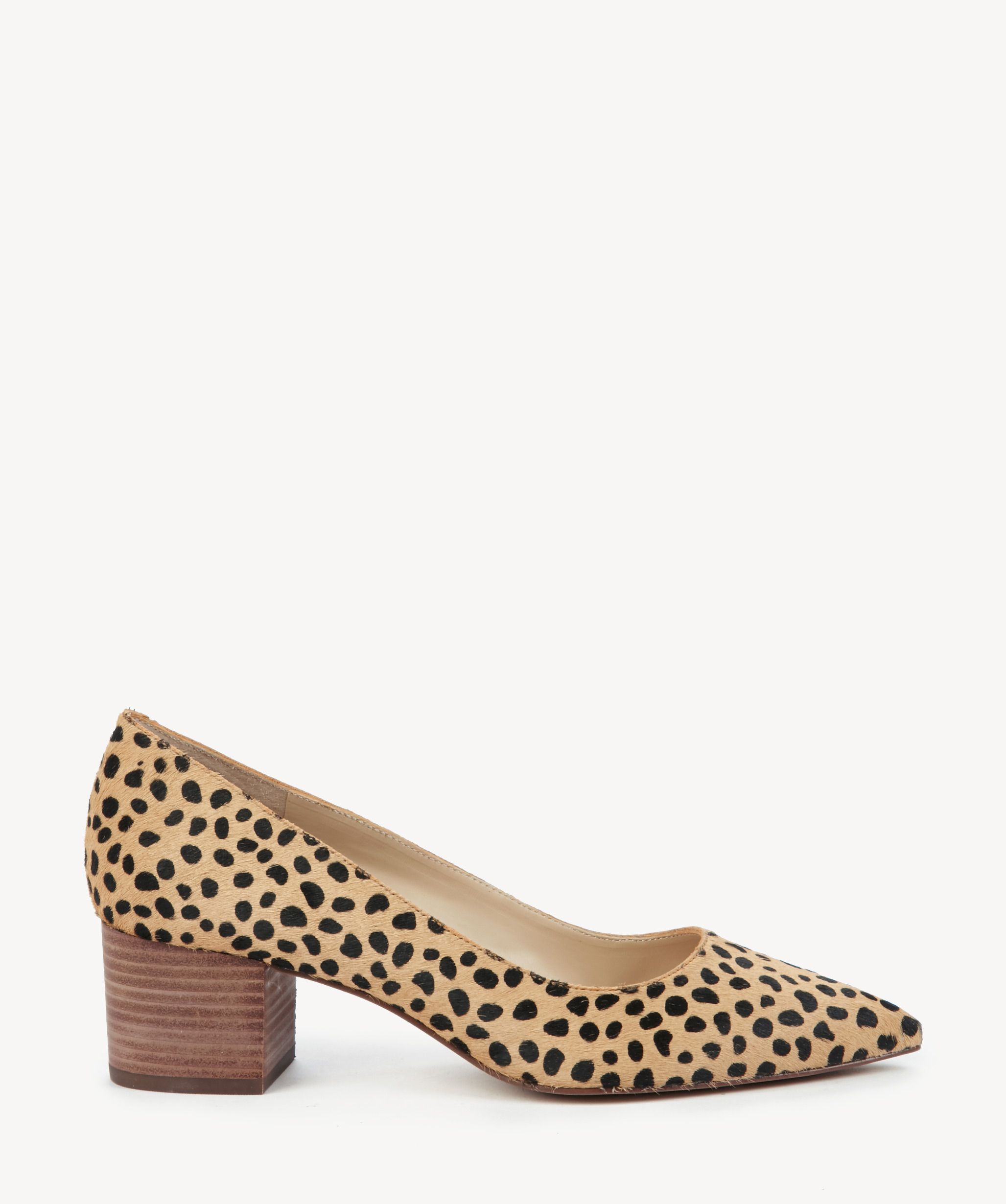 601e98bca9cf Sole Society Andorra Block Heels Pumps Cheetah Dot