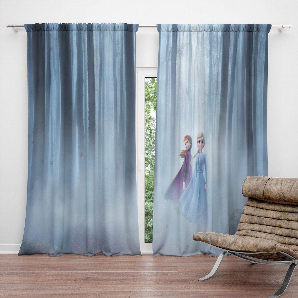 Frozen 2 Blackout Curtains For Living Room In 2020 Curtains Living Room Curtains Blackout Curtains