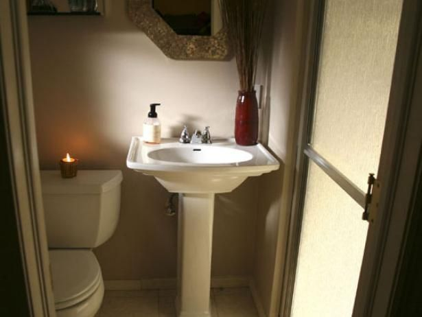Converting A Half Bath To A Full Bath Small Bathroom Makeover Simple Bathroom Half Bath Remodel