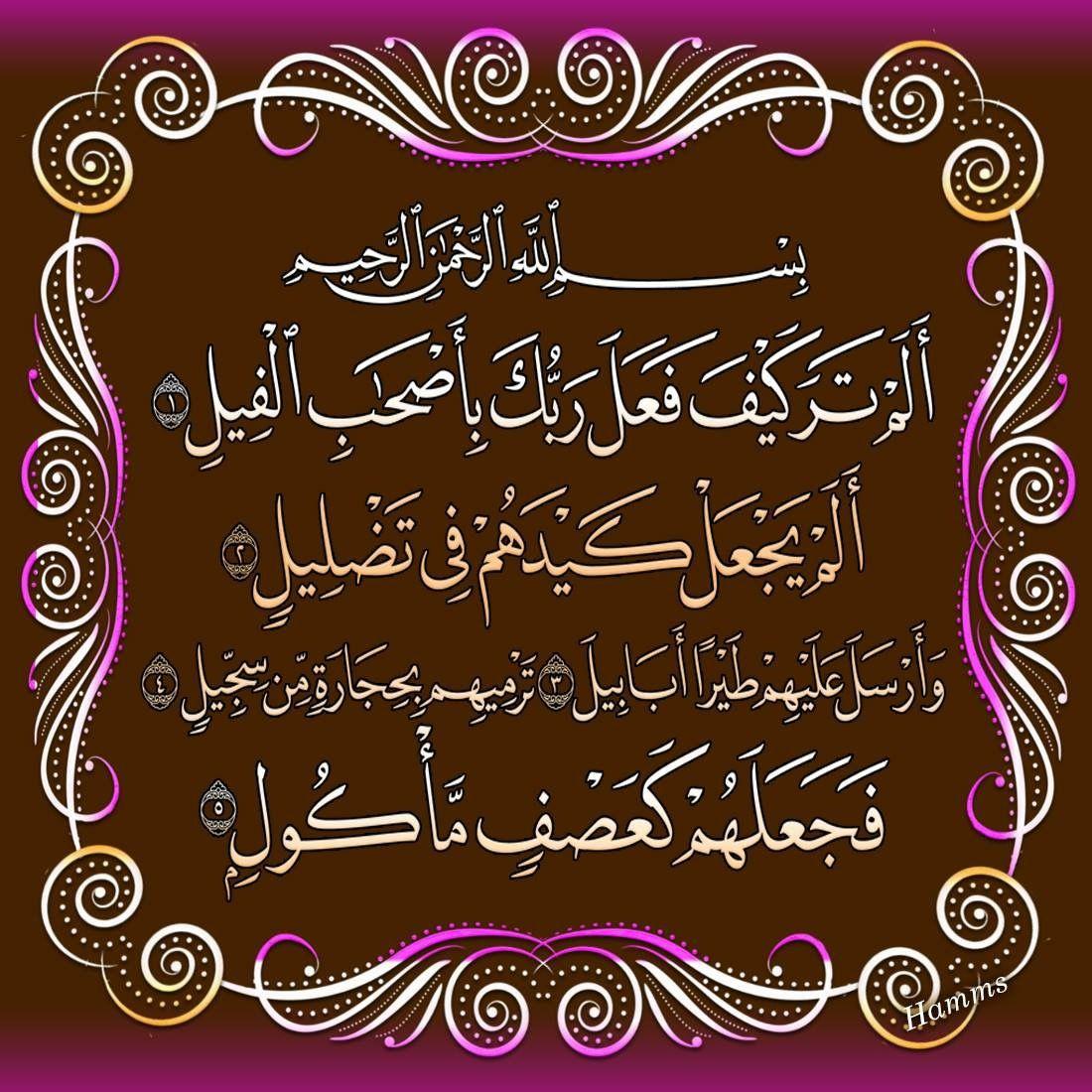 Desertrose Aayat Bayinat سورة الفيل Islamic Art Calligraphy Afghan Quotes Surah Al Quran