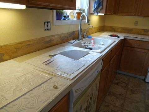 Kitchen Backsplash Re-do On A Budget in 2018 For the home remodel