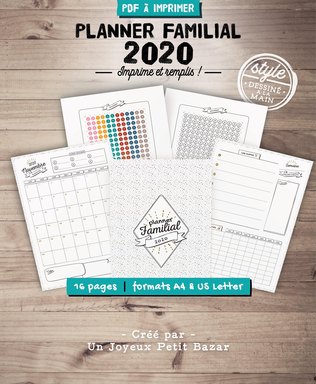 Calendrier Familial 2022 A Imprimer Organiseur familial 2021 2022 à imprimer, planner de famille avec