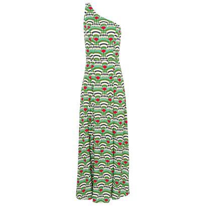 TOTEM - Vestido longo odeon Totem - verde - OQVestir