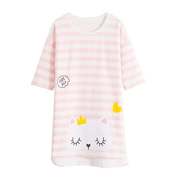 ABClothing Mommy /& Girls Matching Lace Nighties /& Bowknot Nightgowns 100/% Cotton Sleepwear for Toddler 5-14 Years