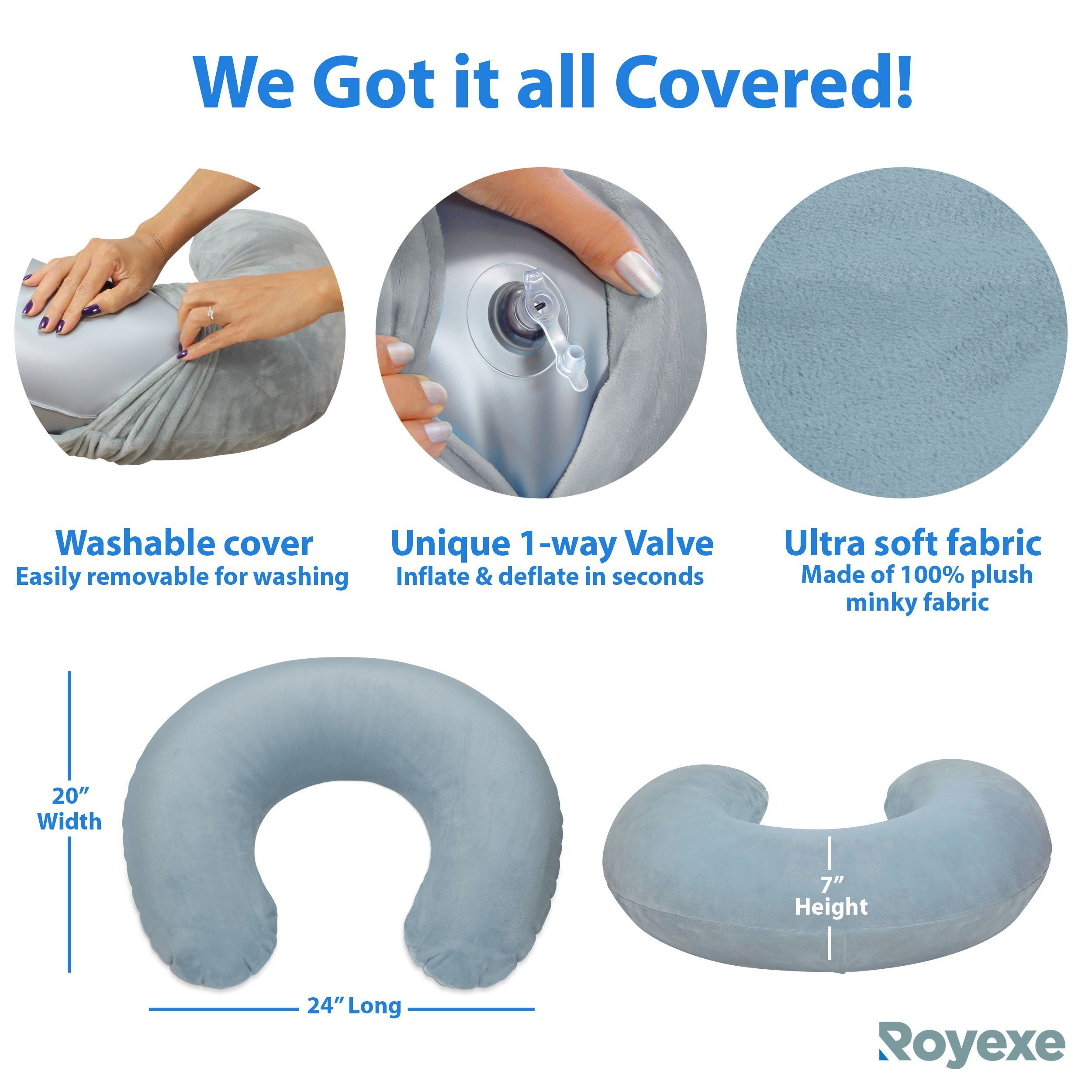 Baby Feeding Pillow Minky Breast Nursing Pregnancy Removable Cover