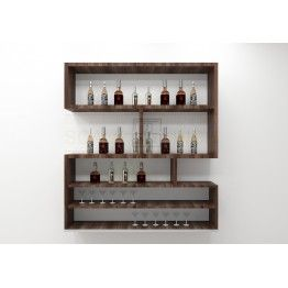 Beau Simple Yet Sleek Structured Wall Mounted Bar Cabinet Made Up Of