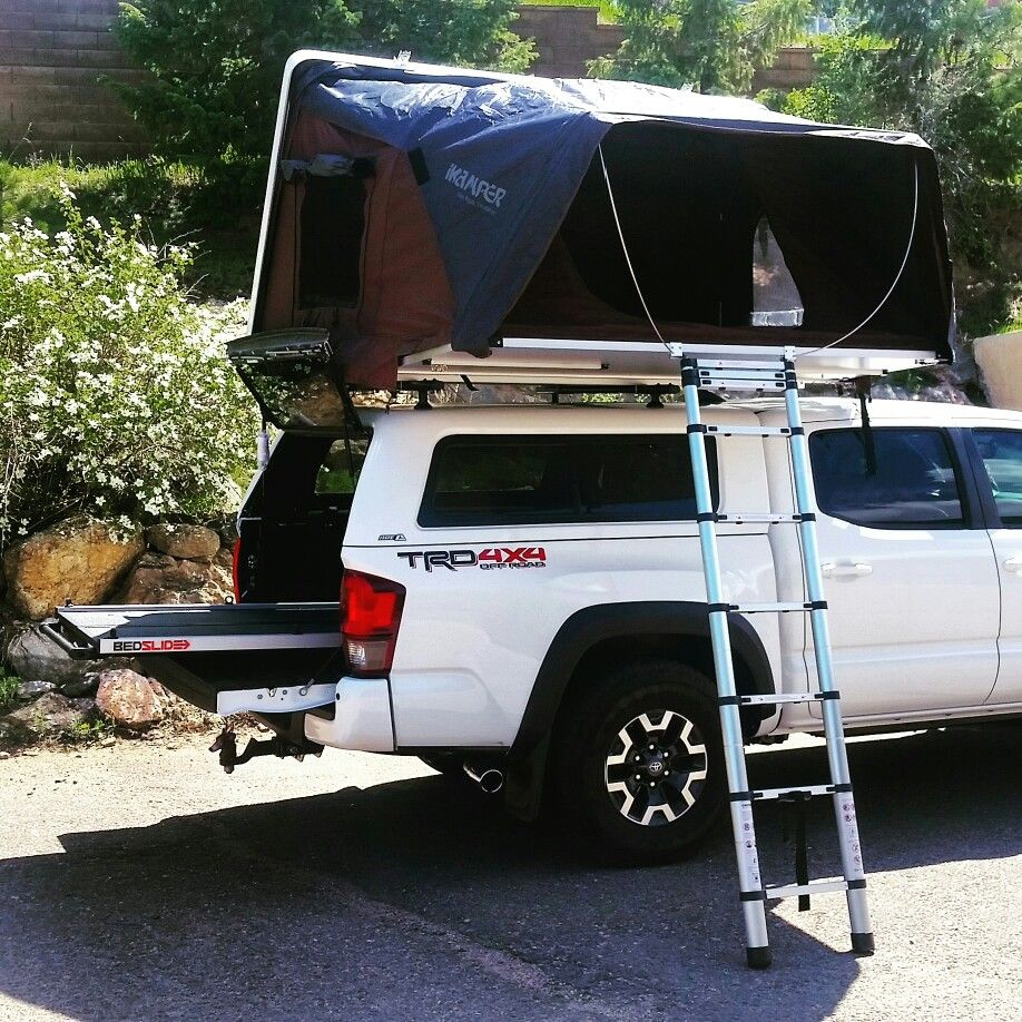 449e3aeec8 2018 Toyota Tacoma with ARE CX HD topper and ikamper skycamp rooftop tent  and bedslide by Altitude Industries