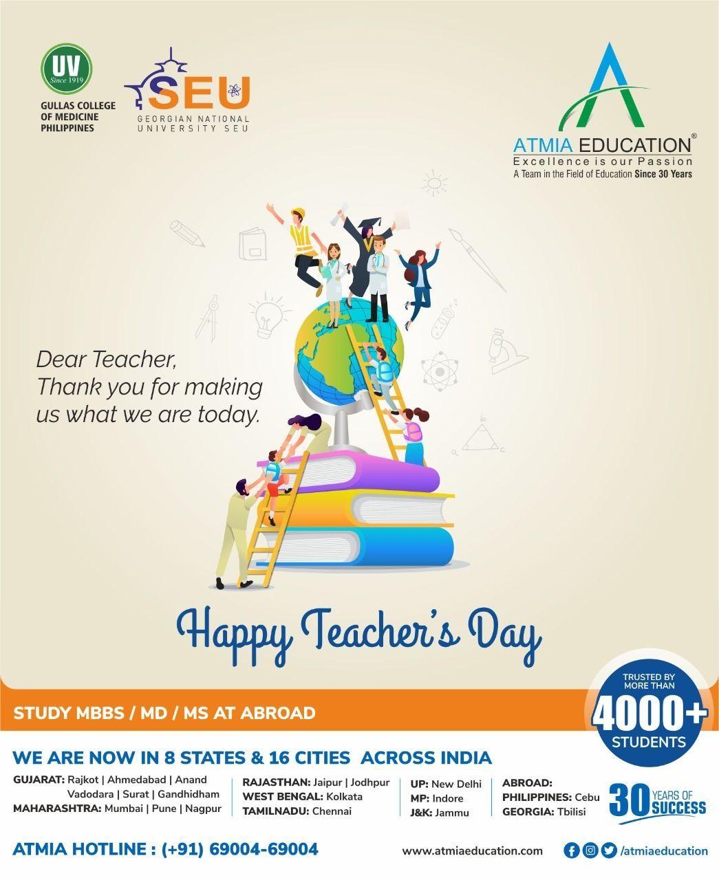 Happy Teachers Day 5th August Teachersday2020 Happyteachersday Mbbsabroad Philippines Studyabroad Mbbs In 2020 Happy Teachers Day Teachers Day Medical College
